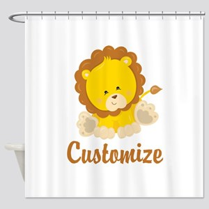 Custom Baby Lion Shower Curtain