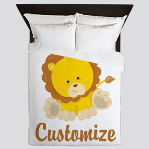 Custom Baby Lion Queen Duvet