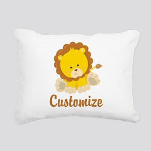 Custom Baby Lion Rectangular Canvas Pillow
