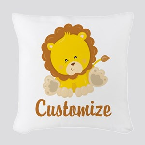 Custom Baby Lion Woven Throw Pillow