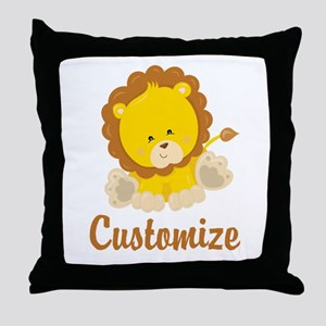 Custom Baby Lion Throw Pillow