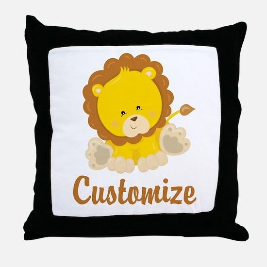 Custom Baby Lion Throw Pillow