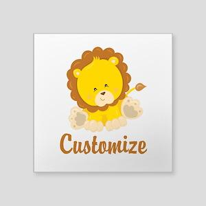 "Custom Baby Lion Square Sticker 3"" x 3"""
