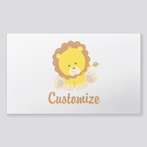 Custom Baby Lion Sticker (Rectangle)