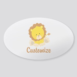 Custom Baby Lion Sticker (Oval)