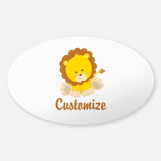 Custom Baby Lion Sticker (Oval)
