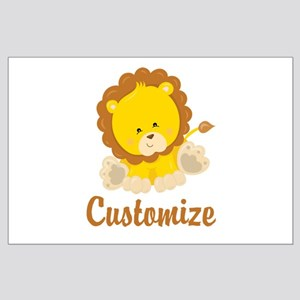 Custom Baby Lion Large Poster