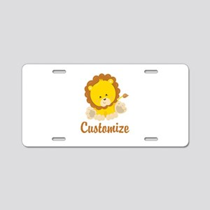 Custom Baby Lion Aluminum License Plate