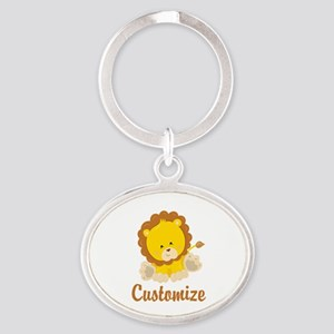 Custom Baby Lion Oval Keychain