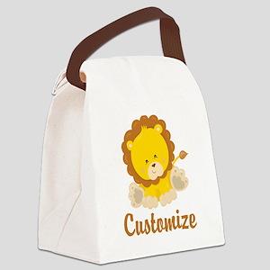 Custom Baby Lion Canvas Lunch Bag