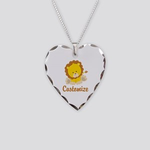 Custom Baby Lion Necklace Heart Charm