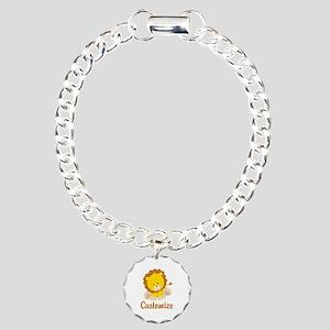 Custom Baby Lion Charm Bracelet, One Charm