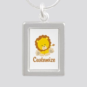 Custom Baby Lion Silver Portrait Necklace
