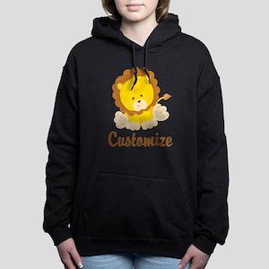 Custom Baby Lion Women's Hooded Sweatshirt