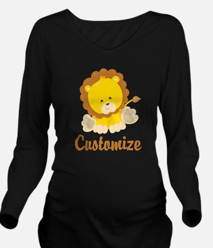 Custom Baby Lion Long Sleeve Maternity T-Shirt