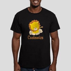 Custom Baby Lion Men's Fitted T-Shirt (dark)