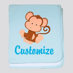 Custom Monkey baby blanket