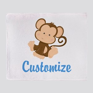 Custom Monkey Throw Blanket