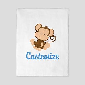 Custom Monkey Twin Duvet