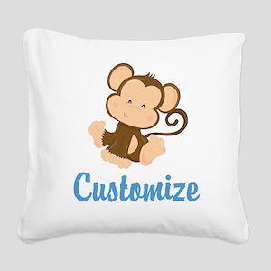 Custom Monkey Square Canvas Pillow
