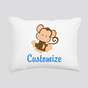 Custom Monkey Rectangular Canvas Pillow