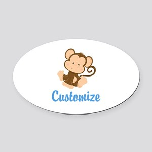 Custom Monkey Oval Car Magnet