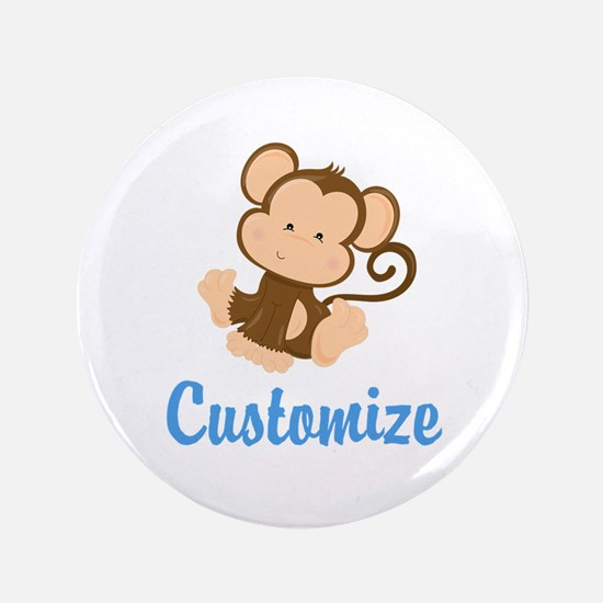 "Custom Monkey 3.5"" Button (100 pack)"
