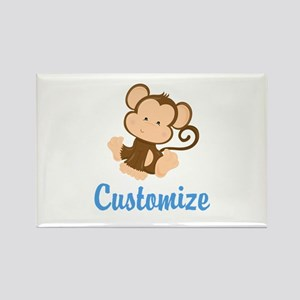 Custom Monkey Rectangle Magnet