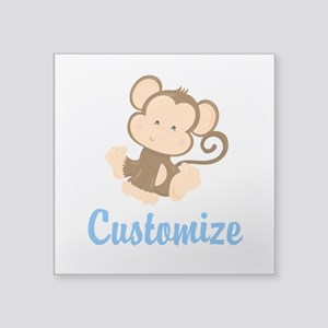 "Custom Monkey Square Sticker 3"" x 3"""