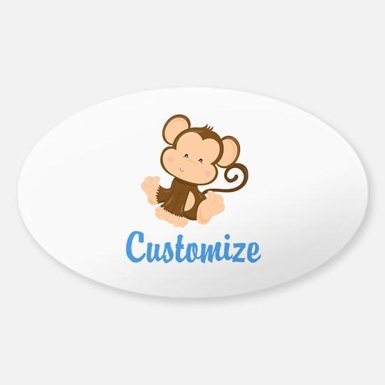 Custom Monkey Sticker (Oval)