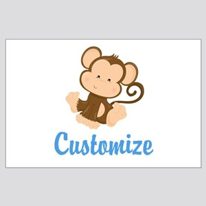 Custom Monkey Large Poster
