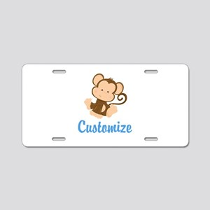 Custom Monkey Aluminum License Plate