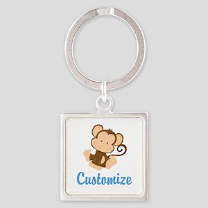 Custom Monkey Square Keychain
