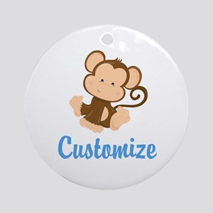 Custom Monkey Round Ornament