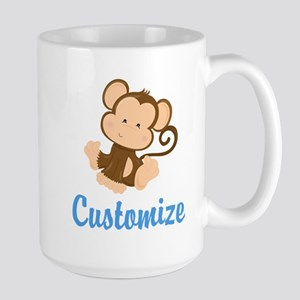 Custom Monkey Large Mug