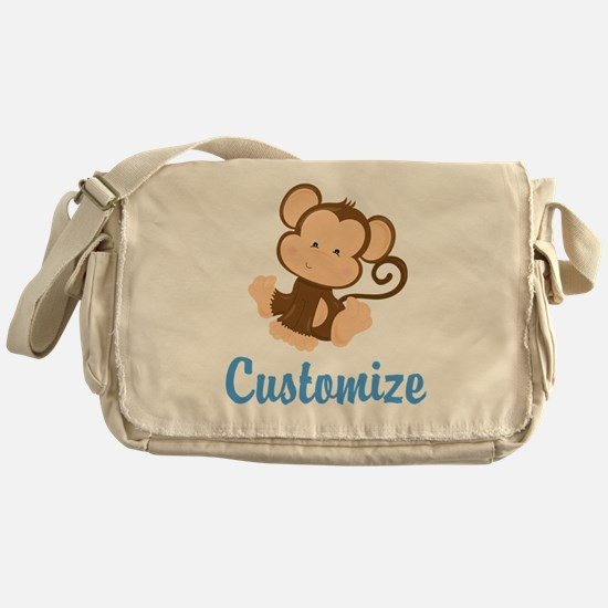 Custom Monkey Messenger Bag