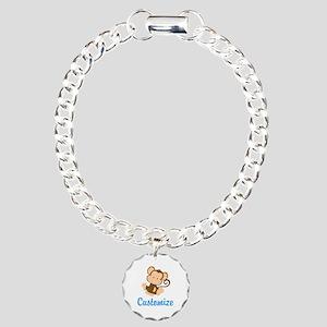 Custom Monkey Charm Bracelet, One Charm