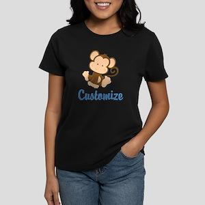 Custom Monkey Women's Dark T-Shirt