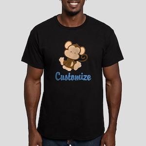 Custom Monkey Men's Fitted T-Shirt (dark)