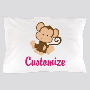 Personalize this adorable baby monkey Pillow Case