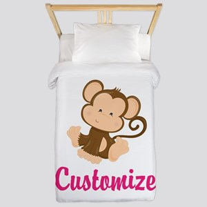 Personalize this adorable baby monkey w Twin Duvet