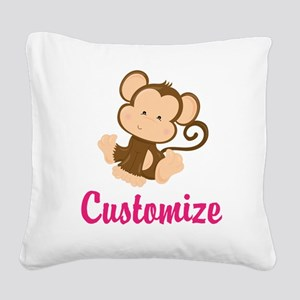 Personalize this adorable bab Square Canvas Pillow