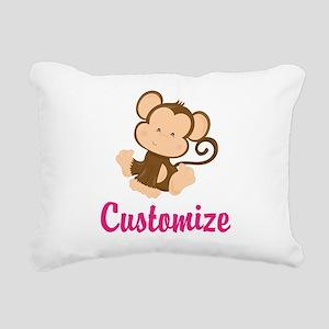 Personalize this adorabl Rectangular Canvas Pillow
