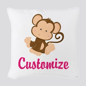 Personalize this adorable baby Woven Throw Pillow