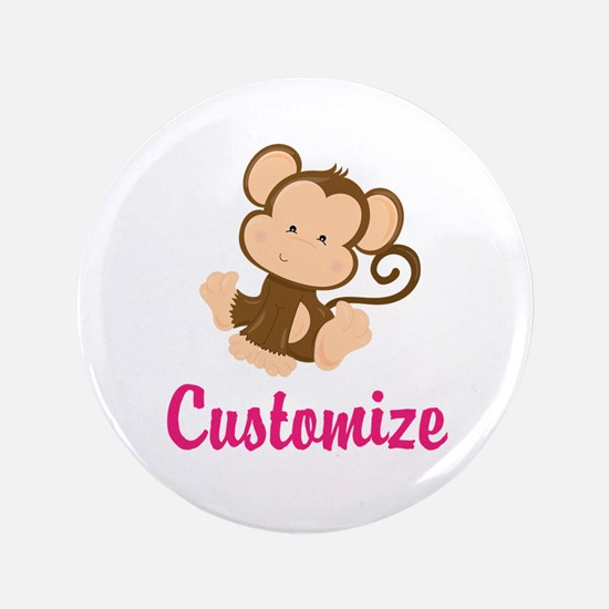 "Personalize this adorable b 3.5"" Button (100 pack)"