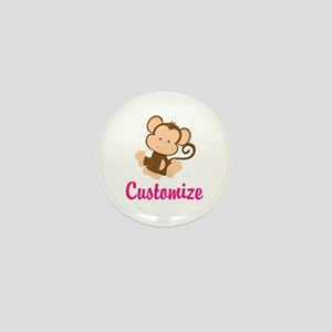 Personalize this adorable baby monkey Mini Button