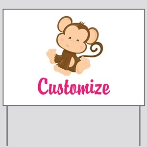 Personalize this adorable baby monkey w/ Yard Sign