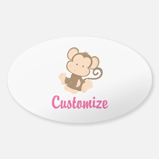 Personalize this adorable baby monk Sticker (Oval)