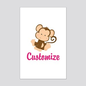 personalize this adorable baby m mini poster print