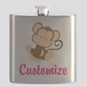 Personalize this adorable baby monkey w/your Flask